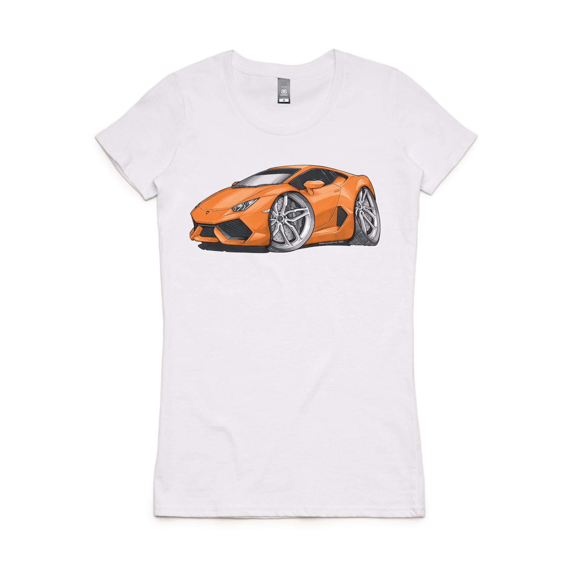 Lamborghini Huracan T Shirt Womens Koolcarz